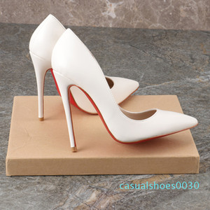 2019 red bottom pump genuine leather Pigalle Heels wedding shoes laboutin pointed toe fine heels sexy woman red sole high heels 35-44 c30