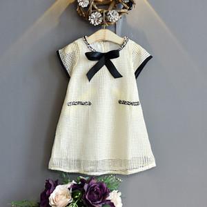 Kids Designer Clothes Foreign Trade Childrens Clothing Girls Summer Dress Small Fragrance Hollow Sleeveless Dress Skirt Girls Childrens West