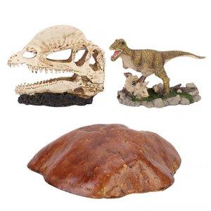 Acuario de simulación de resina terrario Fish Tank Supplies Pet Reptile Cave Ocultación paisaje de la decoración del ornamento del reptil Hábitat Decoración