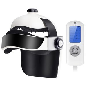 Home Use Head Massage Helmet Air Pressure Vibration Heating With Music Releaf Pain Massager