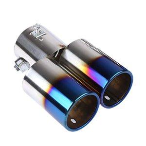 العادم الخمار السيارات تلميح جولة الفولاذ المقاوم للصدأ الأنابيب الكروم العادم الذيل الأنابيب الخمار تلميح العالمي