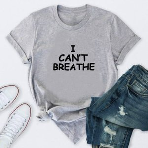 """Mens Designer T-shirts """"I CANT BREATHE"""" Print Summer Tops Womens Solid Color T-shirts 2020 New Arrival Mens Outdoorwear Summer Clothing"""