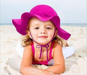 Mode Été Arc UPF50 + Été Nouveau-né Fille Bébé Enfants Chapeau De Soleil Coton Seau Chapeau Protection UV