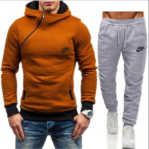 NIKE Manntrainingsnazug Hip-Hop-Sportbekleidung Damen Pullover Pullover + Hosen-Satz-beiläufige Sport-Training hohe Qualität Jogger Sportanzug