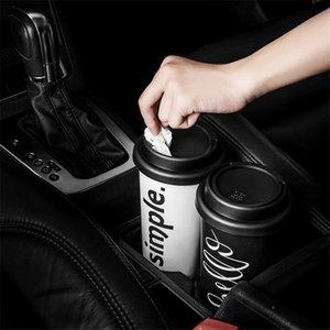 Инновационная 17.2x9.5x9.5cm Mini Car Waste Bin Cup Круглый Мусорное ведро автомобилей хранения Desktop мусора Аксессуары для хранения Ящики Kit