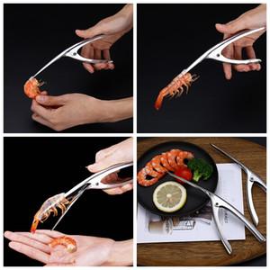 Креветки из нержавеющей стали Креветка Creile Reveiner 3 шага быстрые креветовые пилеры кухонные рестораны омаров для удаления оболочков Seafood Meanfood инструменты BC BH1254