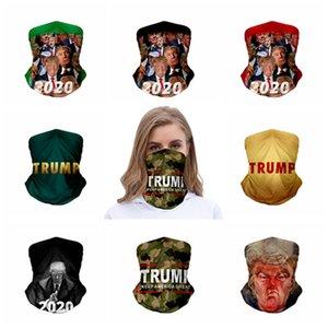 Велоспорт Волшебная маска Trump Тюрбан банданы мотоциклов Лыжная маска обертывание шеи шарфы повязка Многоцелевой 2020 HHA1294
