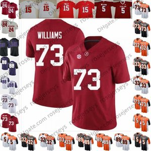 2019 Alabama 73 Jonah Williams White Drew Sample Trayveon Williams NC State Ryan Finley Rodney Anderson Black Orange Rush Football Jersey