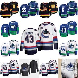 43 Quinn Hughes Vancouver Canucks 50 Seasons forması Bo Horvat Brock Boeser Elias Pettersson Antoine Roussel Eriksson Alex Biega Pearson