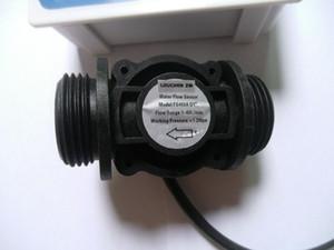 """Freeshipping NUEVO G1"""" Válvula de control de Flujo de Agua LCD Meter + Flow Sensor + solenoide"""