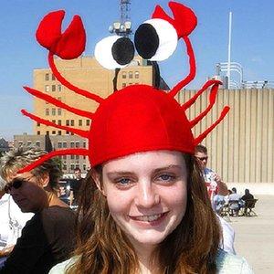 Red Lobster Noël drôle de crabe de la mer des animaux Chapeau Accessoires Costume Adulte Enfant Cap cadeau Bonne année