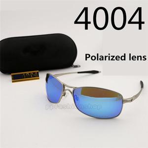 Ultraleve quadro de metal lentes polarizadas ciclismo 4004 óculos de sol venda quente com a marca óculos de sol à prova de poeira homens óculos de sol por atacado