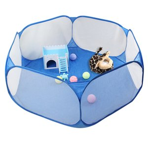 Pet Playpen Pop Open Indoor Outdoor Small Animal Cage Game Playground Fence for Hamster Or Children Play Tent Pool Game House