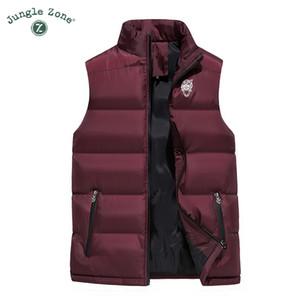 JUNGLE ZONE 2018 nuova giacca calda degli uomini maglia casuale uomini caldi giacca di cotone senza maniche invernali da uomo giubbotto'S S191019