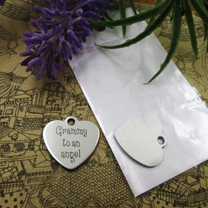 """40pcs--""""Grammy to an Angel""""stainless steel charms more style for choosing DIY Charms pendants for necklace"""