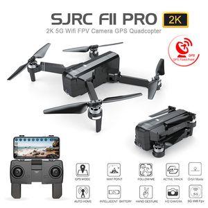 SJRC F11는 GPS 무인 항공기와 와이파이 FPV 1080P / 2K HD 카메라 브러시 쿼드 콥터를 25분 비행 시간 접이식 Dron 대 SG906을 PRO