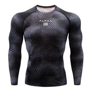 Moda plomo GYM Deporte de la camisa de los hombres T gimnasio delgado de alta elasticidad y transpirable de secado rápido culturismo Tight camiseta para hombre de los hombres Tee Tops