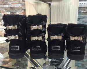 2020 yeni Avustralya kar botları Orta tüp moda sıcak kadın pamuk ayakkabıları Bowknot matkap ayakkabılı boyutu