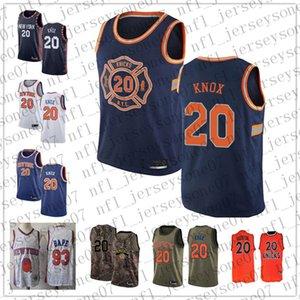 Женщины пользовательские мужская Нью-Йорк 20 Аллан Хьюстон 93 Bape белый синий возврат Баскетбол НБА издание Джерси
