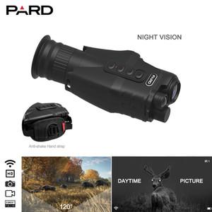 Pard NV019 1080P visão noturna monocular Caça noturna ao ar livre câmera portátil 1x-18x Zoom 371g mais leve dispositivo de observação de caça 400m IR