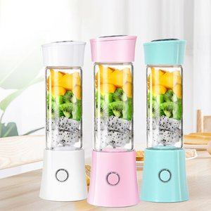 380 ml botella mini portátil Exprimidor fabricante Copa USB recargable libre de BPA Smoothie Blender mezclador con 6 SUS 304 Hoja Hojas