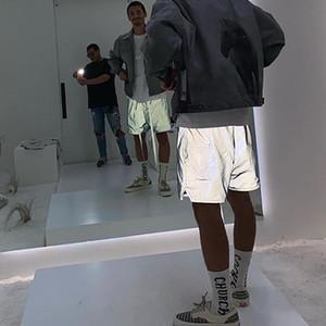 La crainte de Dieu FOG vert irisé formation militaire Shorts Nylon active Shorts 3M Plein Reflective Lightweight Shorts Hommes Hip Hop Streetwear