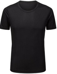 2019 Fitness ajustados para hombres ama que la ropa gris que corre la ropa deportiva de manga corta del estiramiento de la ropa de secado rápido de la camiseta