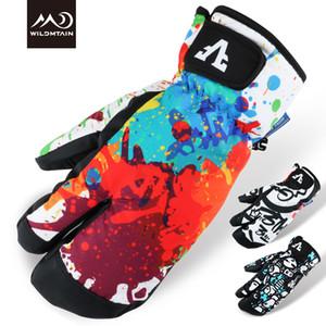 WILDMTAIN Ski-Handschuhe, Winter-warmer Schnee Handschuhe für Skifahren, Wasserdicht und aufgehe, Touchscreen-Unterstützung, Passend für Männer Frauen Kinder