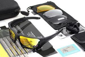 Nuevas gafas de sol balísticas de Terrian, lentes militares polarizadas de 4 lentes con estuche original, ejército táctico Eyeshie