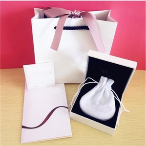 Super Quality Lover Hearts Fashion Jewelry Boxes Packaging set For Pandora Charms Bracelet Silver Rings Original box Womens Gift bags
