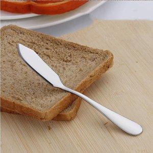 Mantequilla de acero inoxidable del cuchillo Jam queso crema de la torta de la espátula de acero inoxidable Cocina Desayuno herramienta puede WY444Q de logotipo