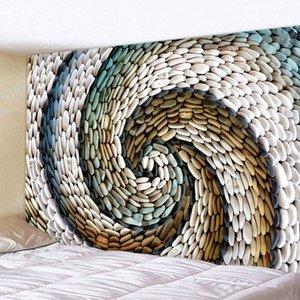 회전 자갈 인쇄 및 장식용 벽걸이 대형 벽 태피스트리 저렴한 히피 보헤미안 벽 태피스트리 만다라 패브릭 T200622