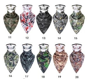 29 estilo da camuflagem máscaras táticos esportes ao ar livre respirável máscara facial pescoço guarda anti UV capa Cachecóis Wraps Bandana