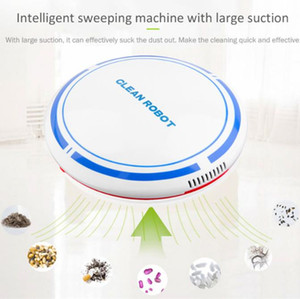 Household Mini Intelligent Vacuum Cleaner Lazy Sweeping Robot Large Suction Automatic Rotation Cleaning Machine USB Charging