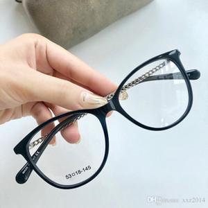 Новый Eleglant HC3385 женщин цепи храма очки frame53-18-140lightweight рамка дощечки для рецепта очков Exqusite цепи + полный набором тематических