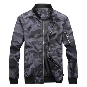 Mens Jacket Slim Fit Fique Estilo Camouflage Impresso Jackets Masculino British Fashion Windbreaker Casaco Camo Casual Men Jacket