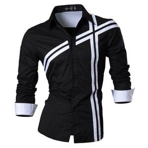 jeansian весна осень особенности рубашки мужчины повседневная джинсовая рубашка новое поступление с длинным рукавом повседневная Slim Fit Мужские рубашки Z006