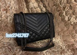 L'arrivée de nouveaux sacs de mode en cuir véritable style caviar femme rabat sac à bandoulière sac à main de sac à bandoulière pour les femmes avec boîte