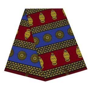 Güney Ankara balmumu blok kumaş Afrika Kumaş elbise balmumu baskı% 100 pamuk kumaş, tekstil malzemesi 6yards WB-51