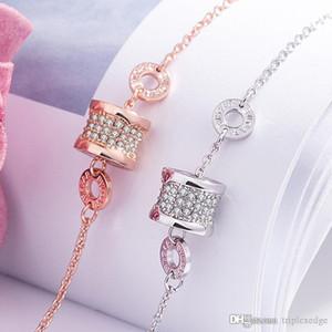 Pulsera de encanto de cristal espumoso de moda y simple, platillo 18k pulsera de mujer de oro, joyería de acero inoxidable de alta calidad