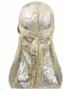 헤어 액세서리 Floral Durag Bandanas 모자 밴드 모자 여성용 남성용 긴 꼬리 해적 모자 파도 do do du rag 터번 헤드 커버 캡