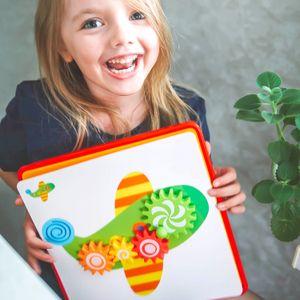 DIY 3D Education Puzzle Game Children Kids Cartoon Board Toy for Boys from 1-3 Mosaic Box Baby Montessori Mushroom Gear MX200414