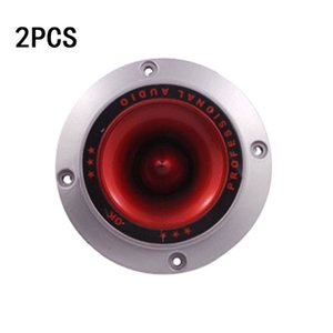 "Cheap Speaker Accessories 2PCS 4"" Round Piezoelectric Tweeters Ceramic Piezo Horn Audio Speaker Treble Home Stage Loudspeaker Without Light"