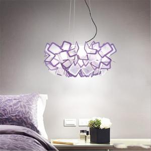 북유럽 디자이너 꽃 주도 천장 조명 Lustre 다채로운 아크릴 침실 주도 펜 던 트 램프 천장 조명기구를 주도