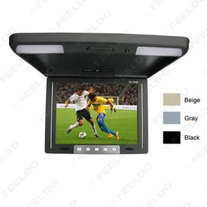 Araba adet Video 10,4 inç Çatı TFT LCD Monitör 2-Yönlü Video Girişi Seçim # 1283 İçin Araç Monitor 3-Renk Flip Down Monteli