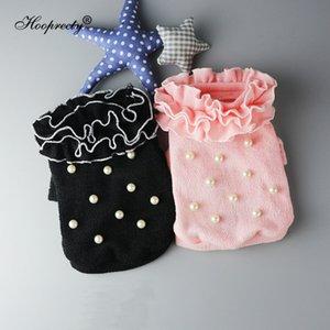 Moda Sweety roupas para cachorros Pet Shop Vestuário Cat Pérola Lace Princesa Knit Bottoming shirt Outono E Inverno Dog Sweater 10A