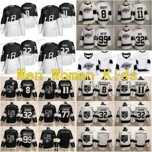 2020 Stade de la série Los Angeles Kings 8 Drew Doughty 11 Anze Kopitar 32 Jonathan Quick 99 Wayne Gretzky Man Femmes Enfants Jeunes Hockey Maillots