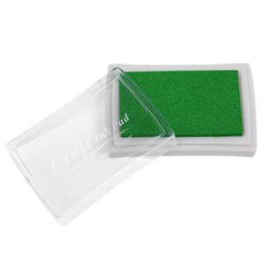 2Pcs Ink Pad Korea Stationery Craft For Paper Fabric Light Green&Grass Green