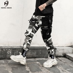 Novel Ideas Color Camo Cargo Mens Fashion Baggy Tactical Trouser Hip Hop Casual Cotton Multi Pockets Pants Streetwear SH190816