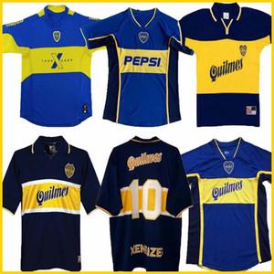 97 98 Boca Juniors camiseta de fútbol retro Maradona ROMANO Caniggia 1997 96 2002 03 PALERMO las camisas del fútbol Maillot Camiseta de Futbol 2005 2001